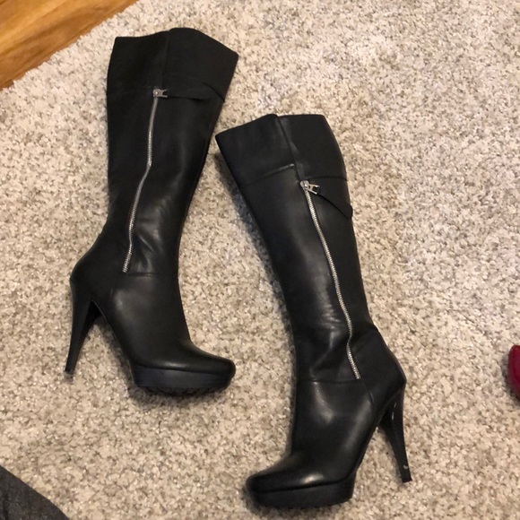6719df9a5b78f jcpenney Shoes - Knee high side zip black boots